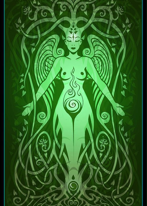 Goddess Greeting Card featuring the digital art Divine Life by Cristina McAllister