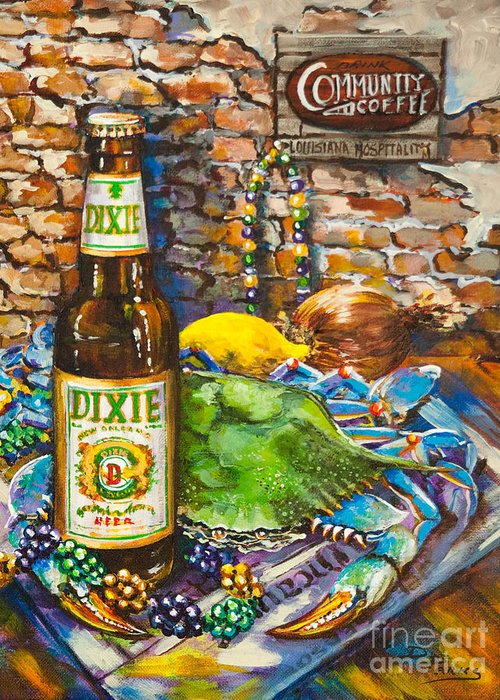 Dixie Greeting Card featuring the painting Dixie Love by Dianne Parks