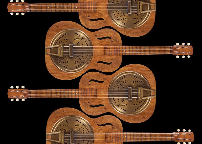 Guitar Greeting Card featuring the photograph Dobro 5 by Mike McGlothlen