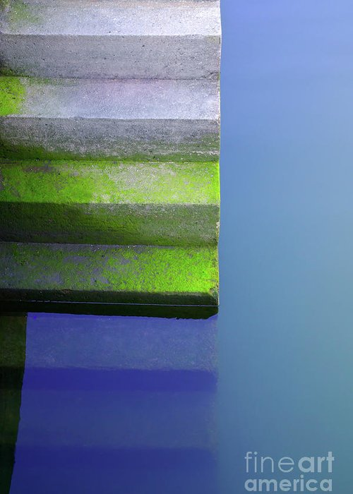 Abstract Greeting Card featuring the photograph Dock Stairs by Carlos Caetano