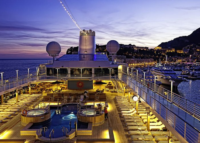 Monte Carlo Greeting Card featuring the photograph Docked In Monte Carlo by Janet Fikar