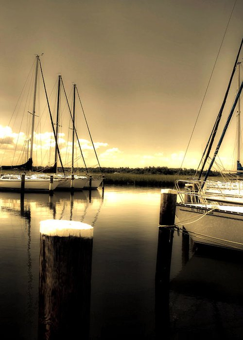 Mobile Al Greeting Card featuring the photograph Dog River Marina by Gulf Island Photography and Images