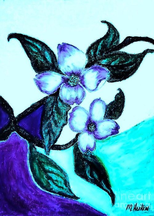 Pastels Greeting Card featuring the digital art Dogwood Purple by Marsha Heiken