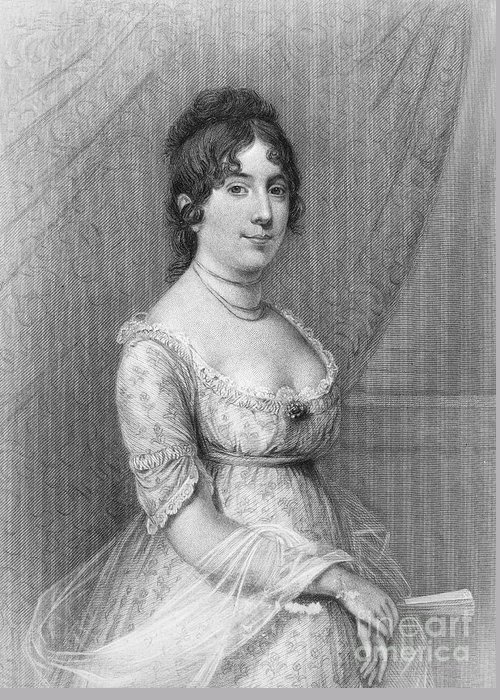 19th Century Greeting Card featuring the photograph Dolley Madison (1768-1849) by Granger