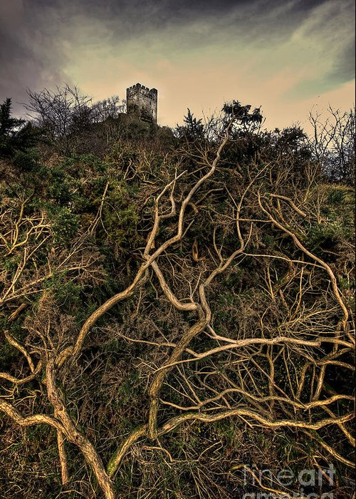 Castle Greeting Card featuring the photograph Dolwyddelan Castle by Meirion Matthias