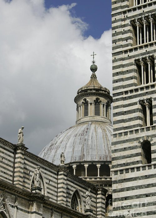 Italy Greeting Card featuring the photograph Dome In Siena by Stan and Anne Foster