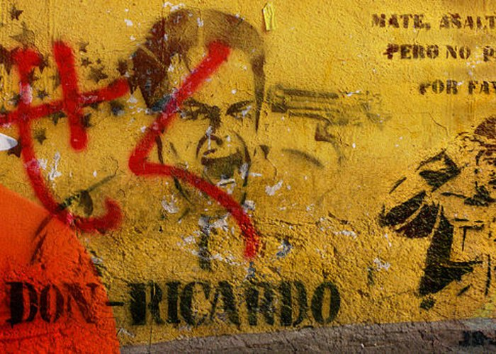 Grafitti Greeting Card featuring the photograph Don-ricardo by Skip Hunt