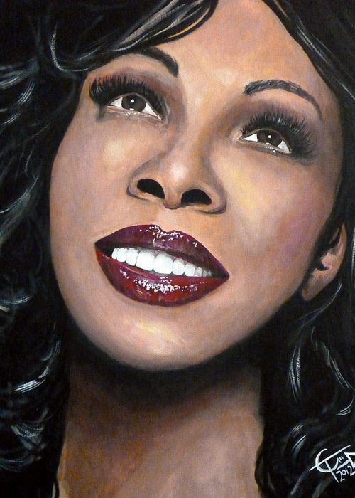 Disco Greeting Card featuring the painting Donna Summer by Tom Carlton