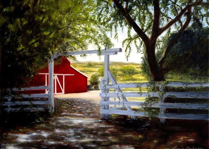 Barn Greeting Card featuring the painting Don's Barn by Lance Anderson