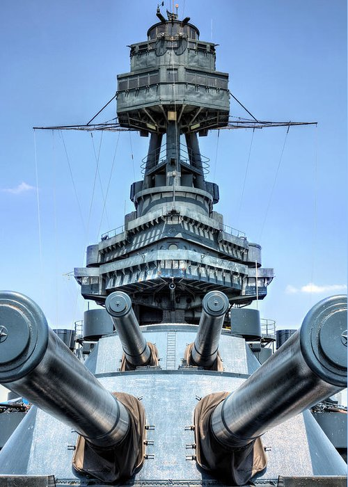 Battleship Greeting Card featuring the photograph Don't Mess With Texas by JC Findley