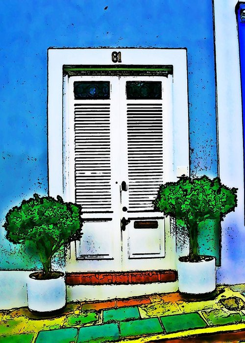 Door Greeting Card featuring the photograph Door 61 by Perry Webster