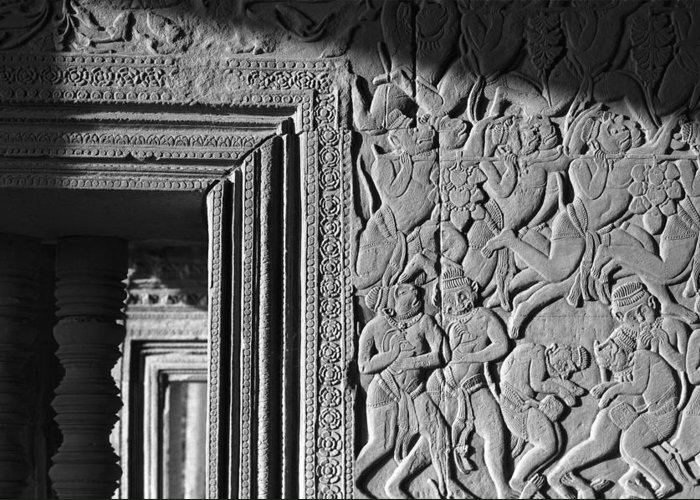 Angkor Wat Greeting Card featuring the photograph Door Frame by Marcus Best