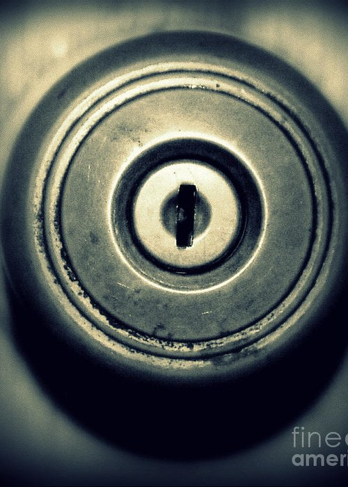 Door Greeting Card featuring the photograph Door Knob by Emily Kelley