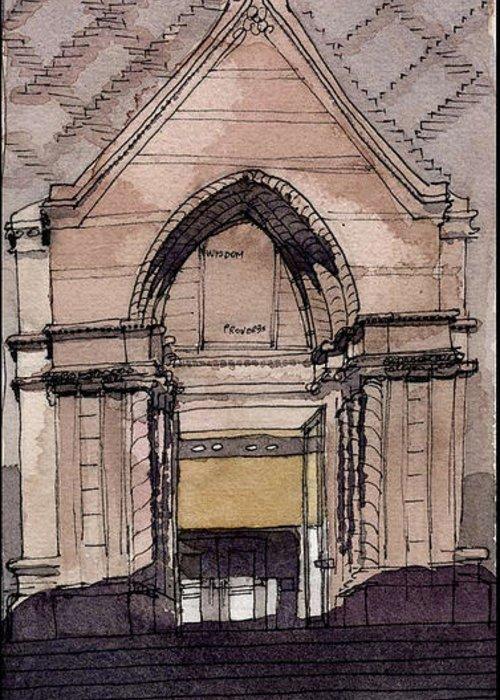 Aiden Humphrey Greeting Card featuring the digital art Door Study 2 by Aiden Humphrey