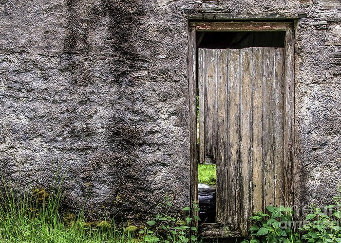 Cottage Greeting Card featuring the photograph Door To The Past by Julie Chambers