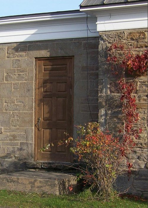 Stone Greeting Card featuring the photograph Doorway At The Stone House - Photograph by Jackie Mueller-Jones
