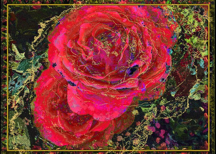 Roses Greeting Card featuring the painting Dornroeschen by Anne Weirich