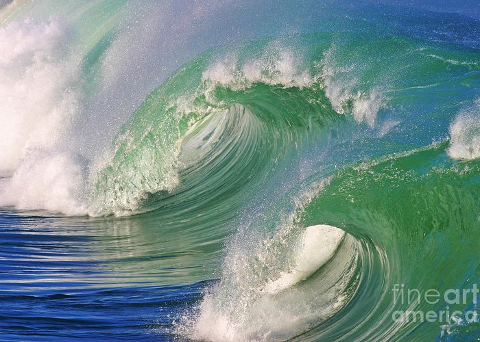 Ocean Greeting Card featuring the photograph Double Barrel by Paul Topp