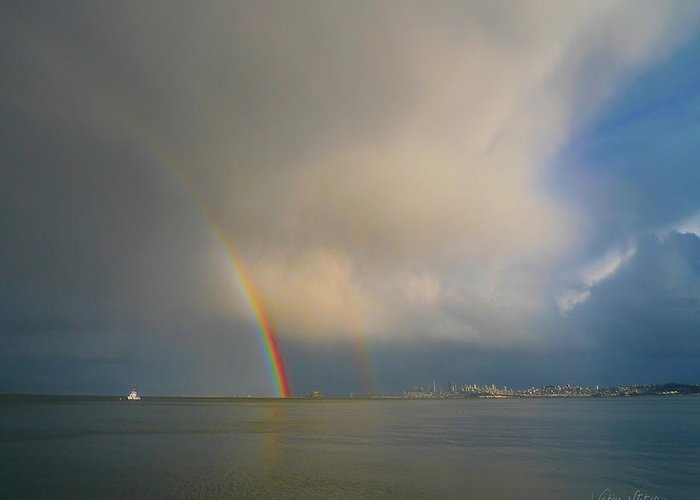 Rainbow Greeting Card featuring the photograph Double Rainbow by Sabine Stetson