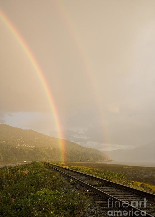 Rainbow Greeting Card featuring the photograph Double Rainbows by Tim Grams