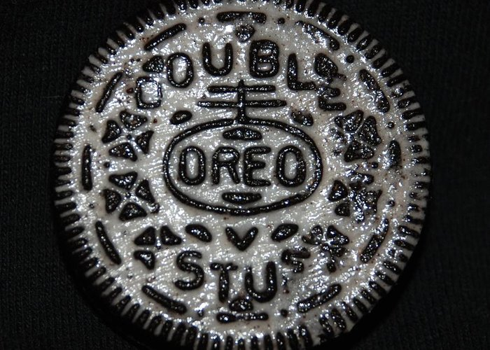 Oreo Greeting Card featuring the photograph Double Stuff Oreo by Rob Hans
