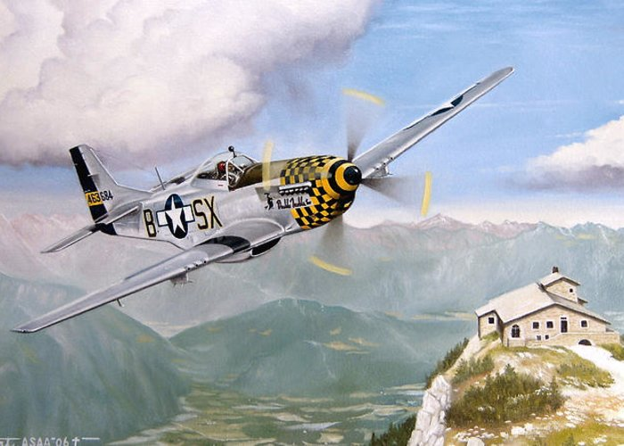 Military Greeting Card featuring the painting Double Trouble Over The Eagle by Marc Stewart