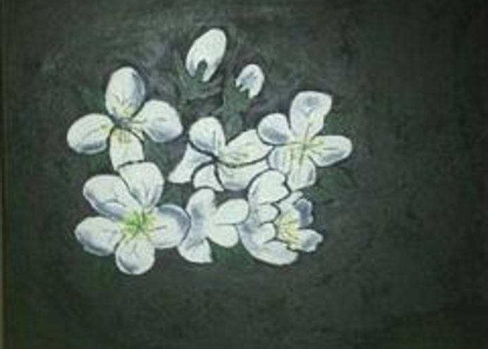 Flowers Greeting Card featuring the painting Doubt by Wanda D