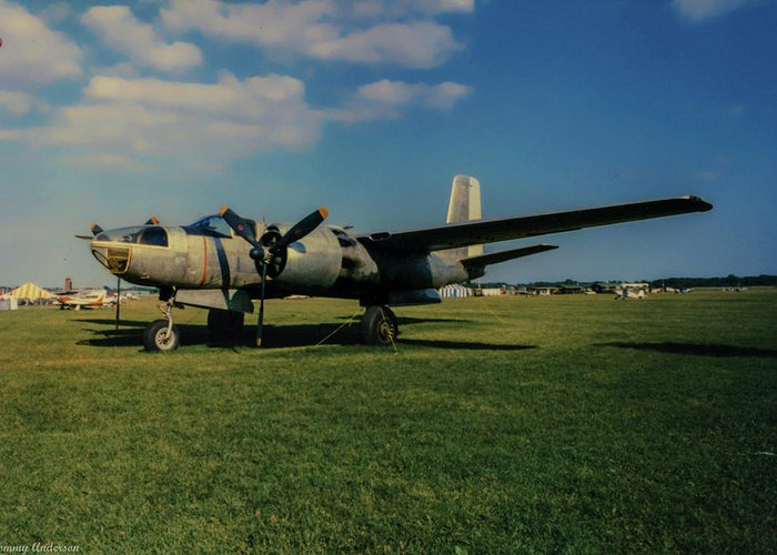 Douglas A-26 Invader Greeting Card featuring the photograph Douglas A-26 Invader Eaa by Tommy Anderson