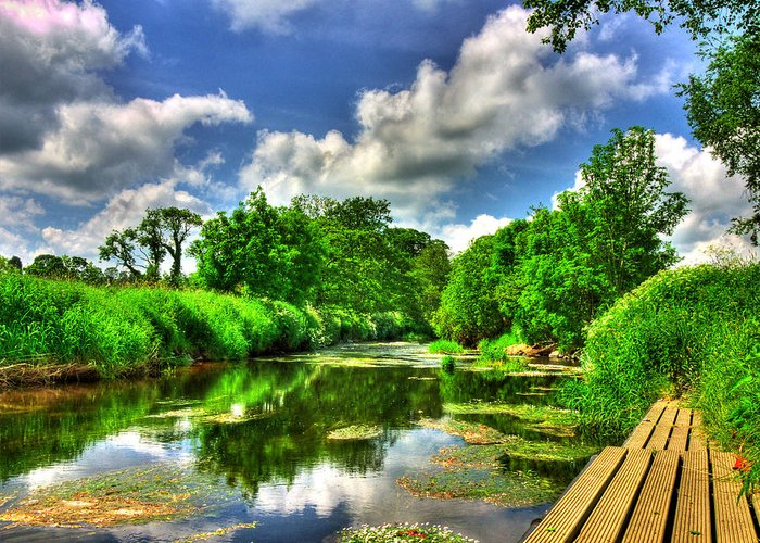River Bann Greeting Card featuring the photograph Down By The Riverside by Kim Shatwell-Irishphotographer