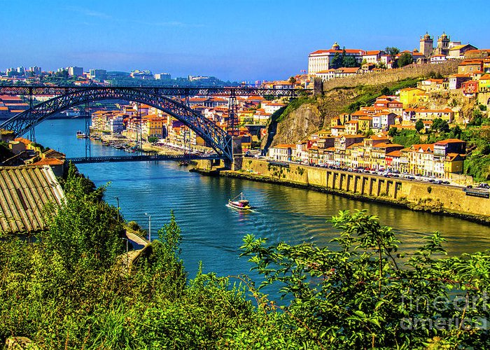 Porto Greeting Card featuring the photograph Down River by Roberta Bragan
