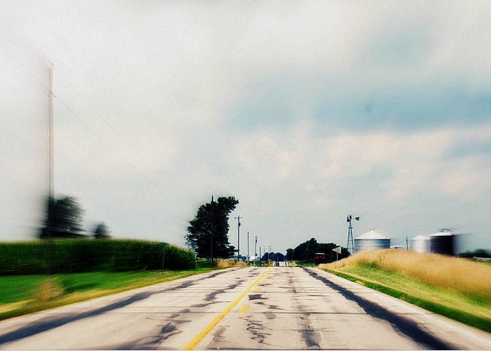 Photograph Greeting Card featuring the photograph Down The Road by Suzanne Marie Lambert