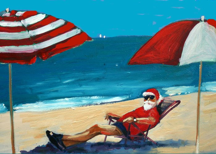 Beach Scene Greeting Card featuring the greeting card Down Time by Debbie Miller