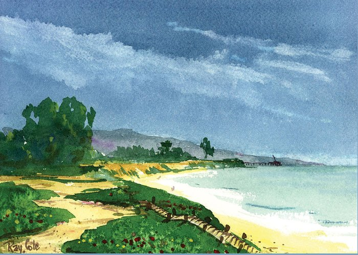 Steps To The Beach Greeting Card featuring the painting Down To The Beach by Ray Cole