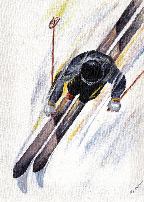 Downhill Skiing Greeting Cards