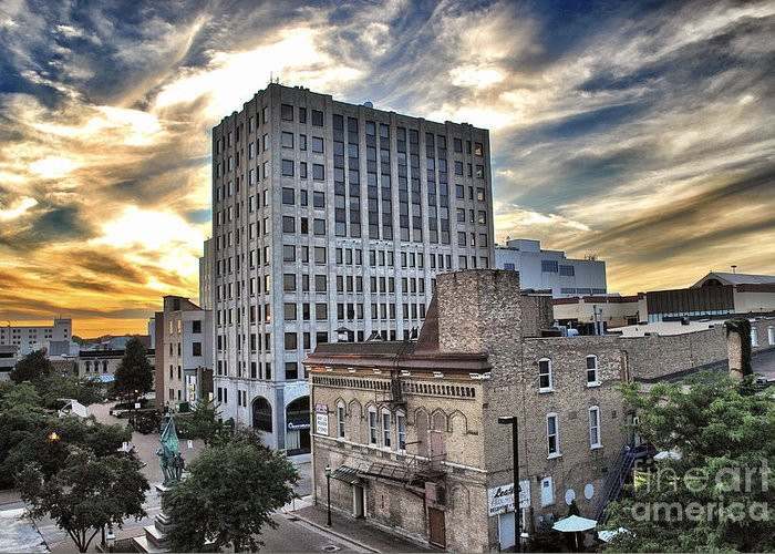 Appleton Greeting Card featuring the photograph Downtown Appleton Skyline by Mark David Zahn