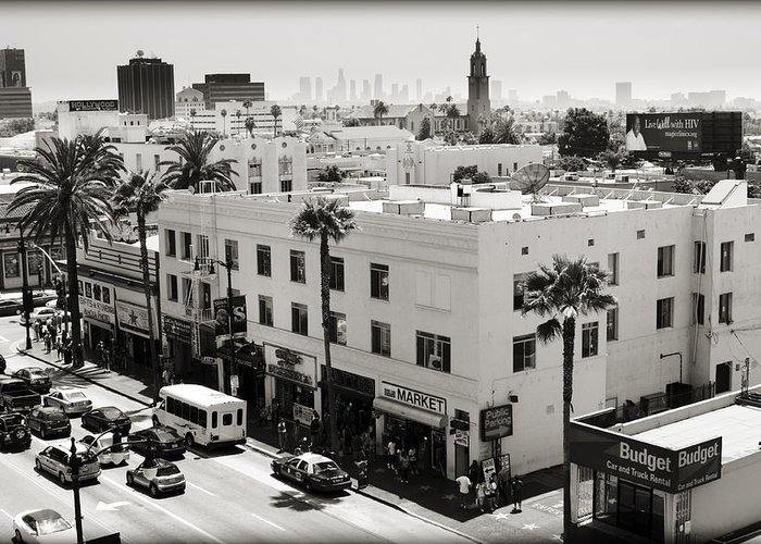 Hollywood Greeting Card featuring the photograph Downtown In The Distance by Ricky Barnard