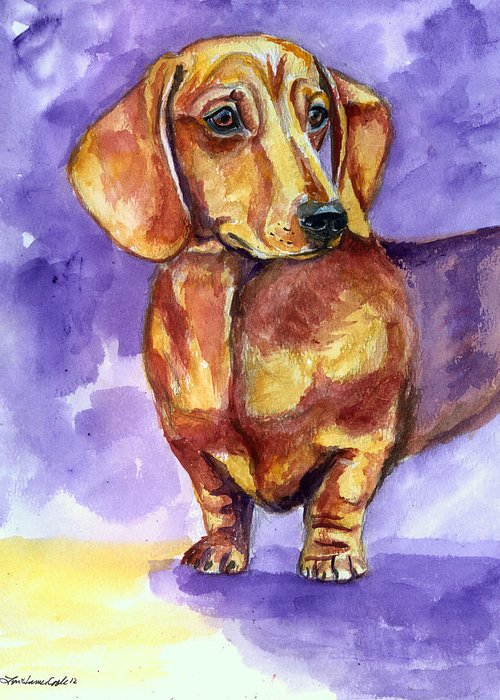 Dachsie Greeting Cards