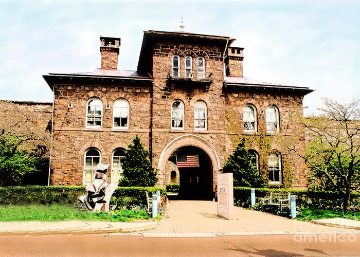 Photography Greeting Card featuring the photograph Doylestown-michener Museum by Addie Hocynec