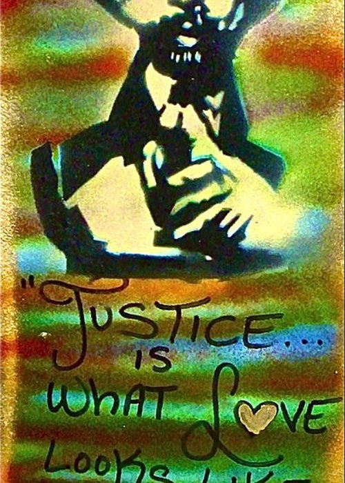 Dr. Cornel West Greeting Card featuring the painting Dr. Cornel West Justice by Tony B Conscious