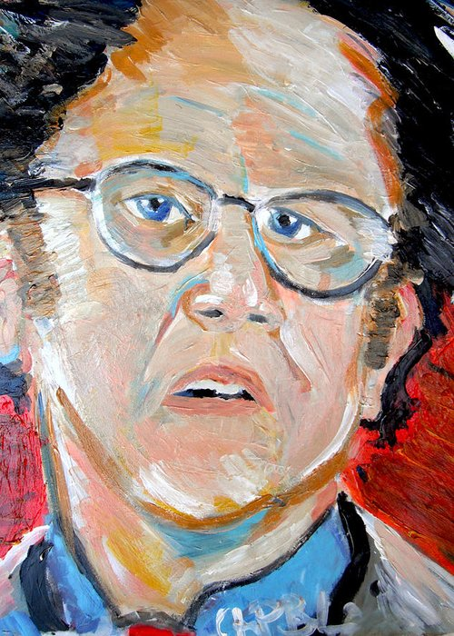 Steve Brule Greeting Card featuring the painting Dr. Steve Brule by Jon Baldwin Art