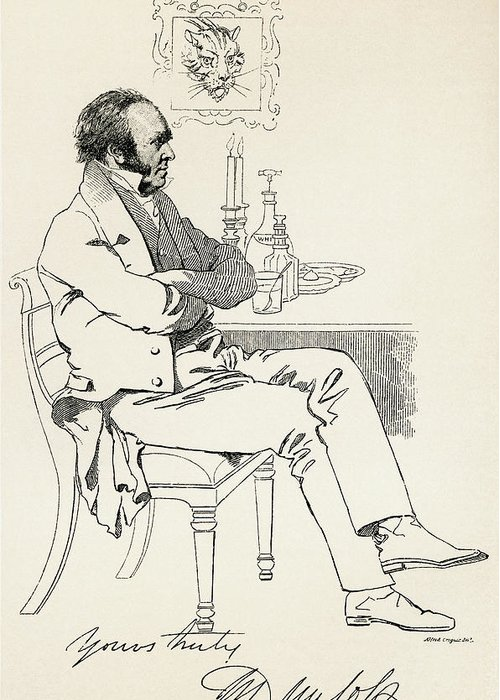 Dr. Greeting Card featuring the drawing Dr. William Dunlop, 1792 by Vintage Design Pics
