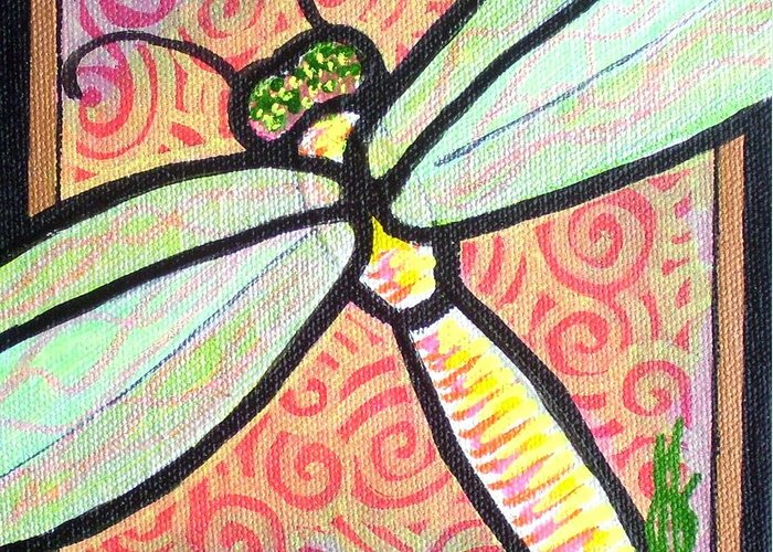 Dragonfly Greeting Card featuring the painting Dragonfly Fantasy 3 by Jim Harris