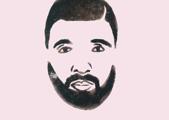 Drake Greeting Card featuring the drawing Drake by Cortney Herron