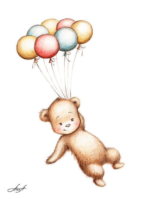 Baby Room Drawings Greeting Cards