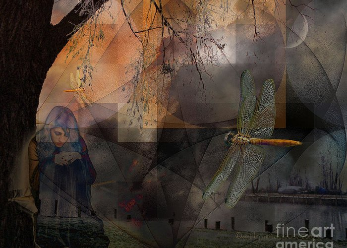 Dreams Greeting Card featuring the digital art Dream Bearers by Mimulux patricia No