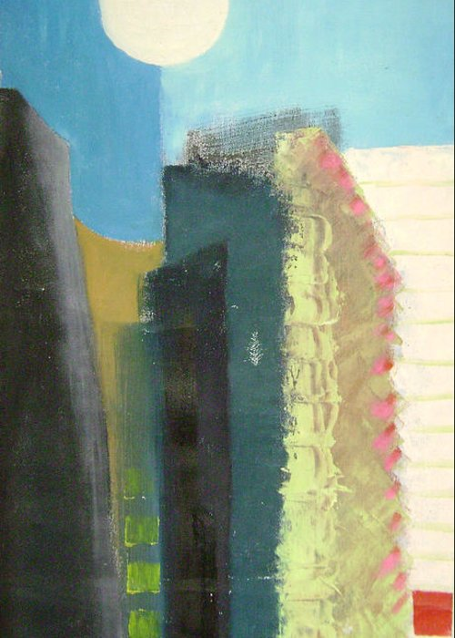 Abstract Greeting Card featuring the painting Dream City No.2 by Lian Zhen