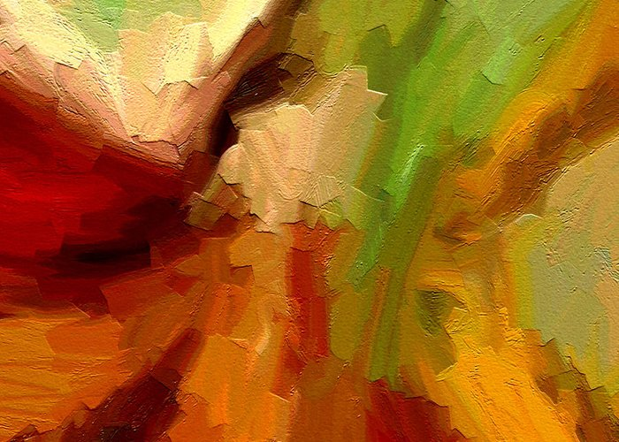 Abstract Art Greeting Card featuring the painting Dream Weaver by Ely Arsha