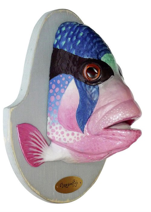 Fish Greeting Card featuring the sculpture Dreamfish Trophy by Artem Efimov