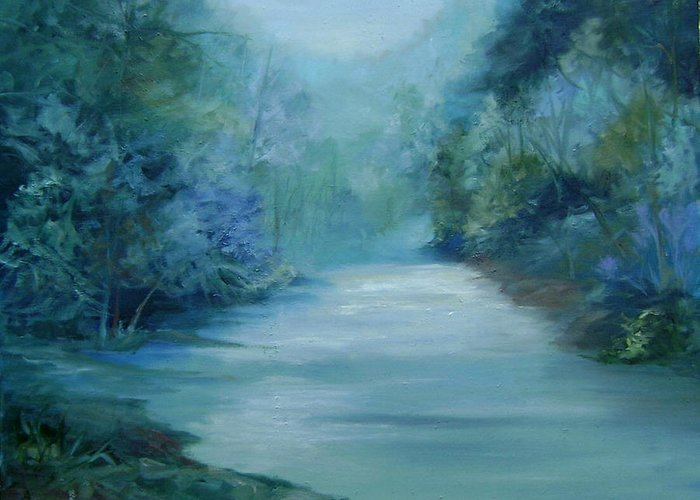 Burton River Georgia Greeting Card featuring the painting Dreamsome by Ginger Concepcion