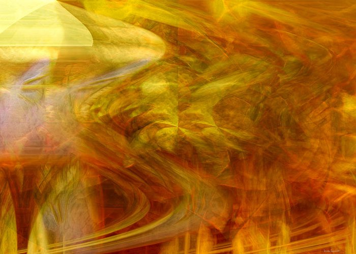 Abstract Art Greeting Card featuring the digital art Dreamstate by Linda Sannuti